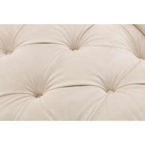 Sofa Chesterfield Glamour Velvet Cream 2os.  187x94x75cm