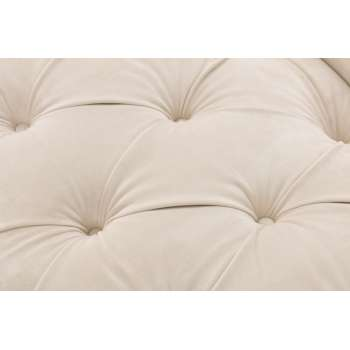 Sofa Chesterfield Glamour Velvet Cream 2os.  187x94x75cm