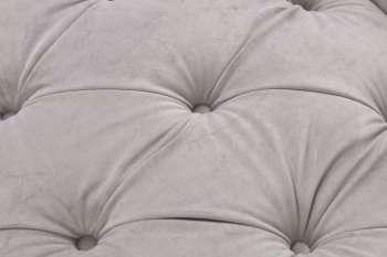 Sofa Chesterfield Glamour Velvet Light Grey 2-Sitzer
