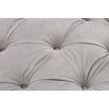 Sofa Chesterfield Glamour Velvet Light Grey 2os.