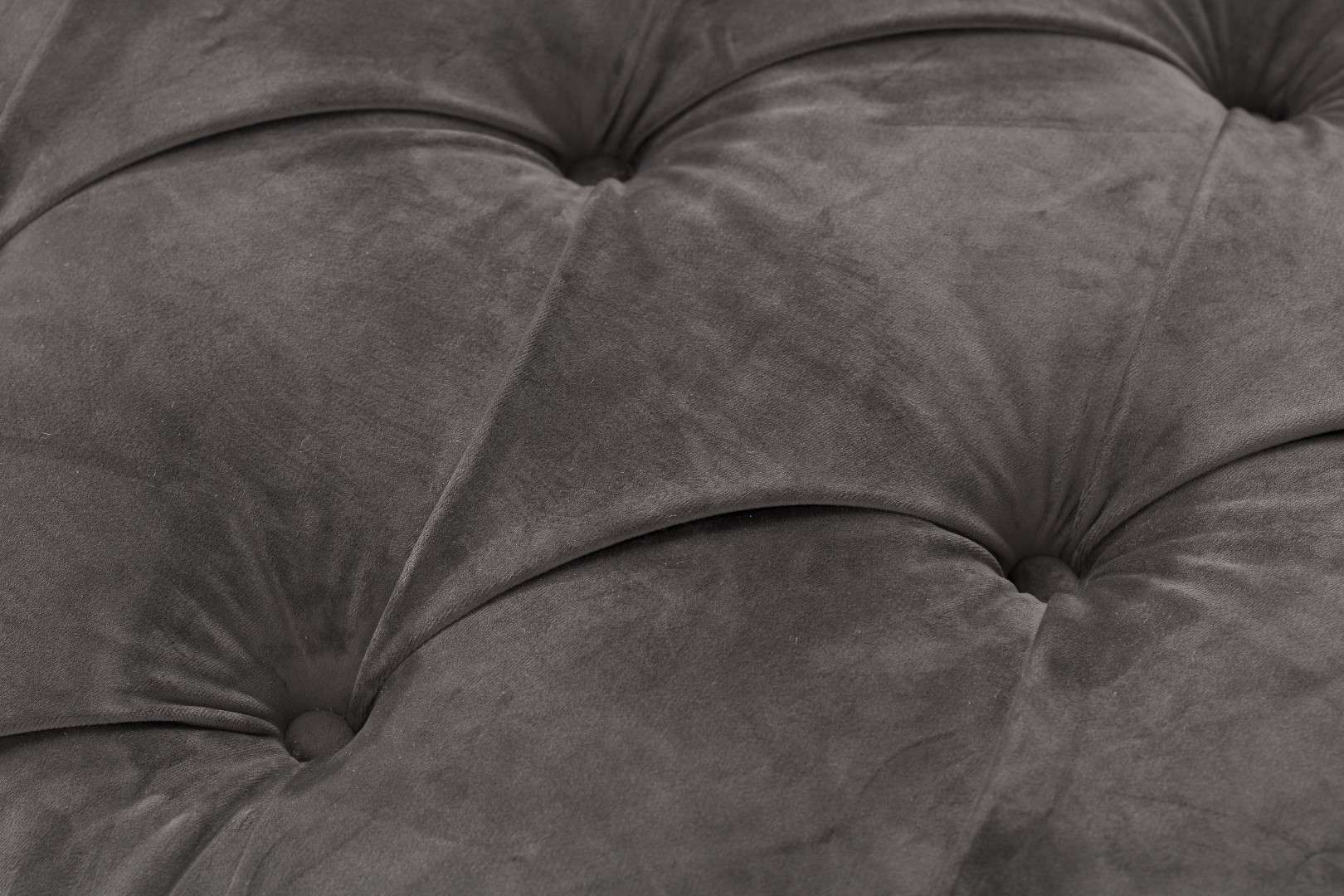 Sofa Chesterfield Glamour Velvet Dark Grey 2-os.