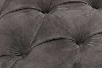 Sofa Chesterfield Glamour Velvet Dark Grey 2os.