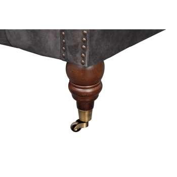 Sofa Chesterfield Glamour Velvet Dark Grey 2os.  187x94x75cm