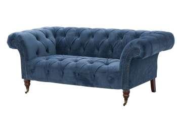 Sofa Chesterfield Glamour Velvet Midnight 2os.