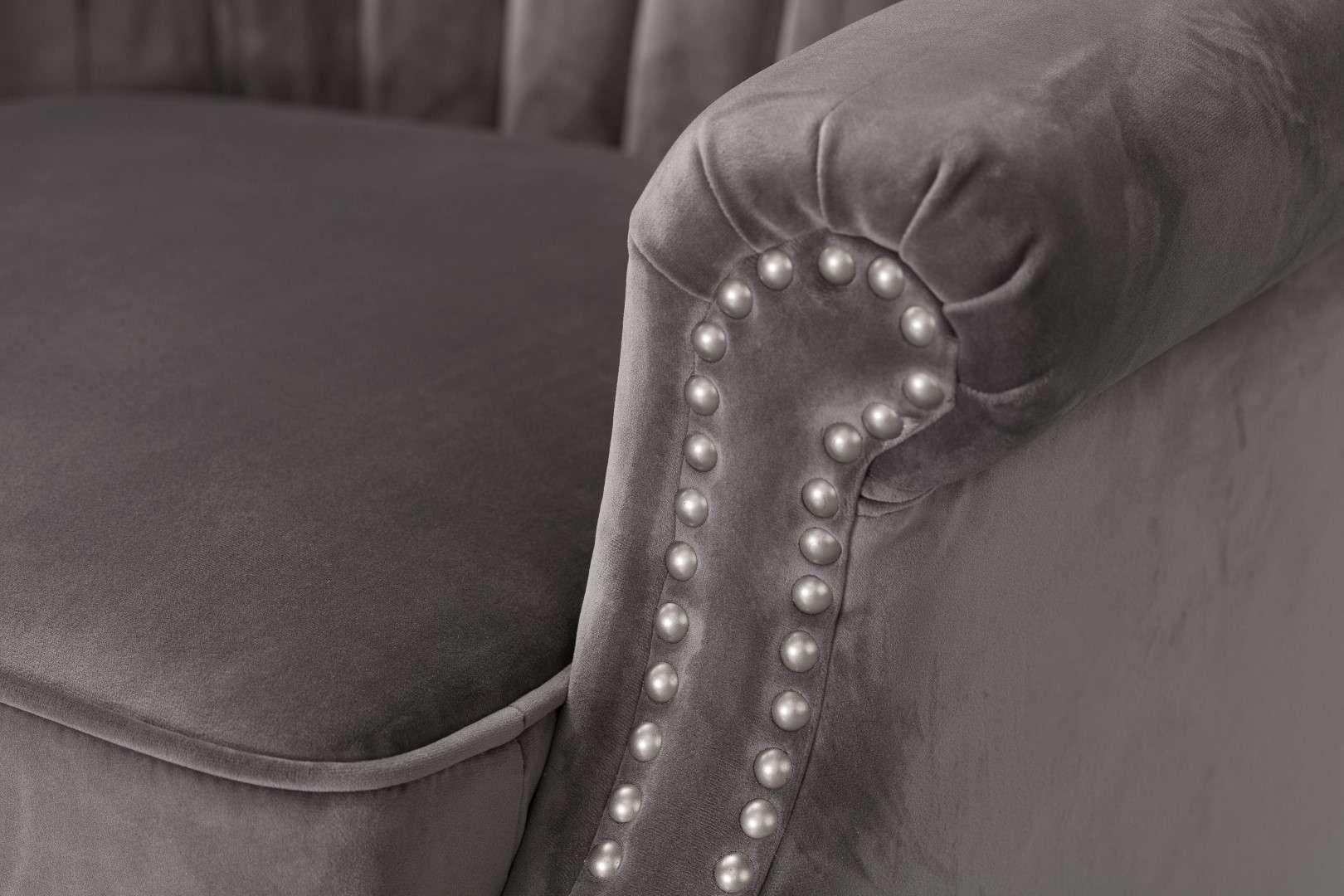 Fotel Scarlett Velvet Dark Grey 78x83x101cm  80x83x101cm