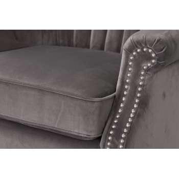 Fotel Scarlett Velvet Dark Grey 78x83x101cm