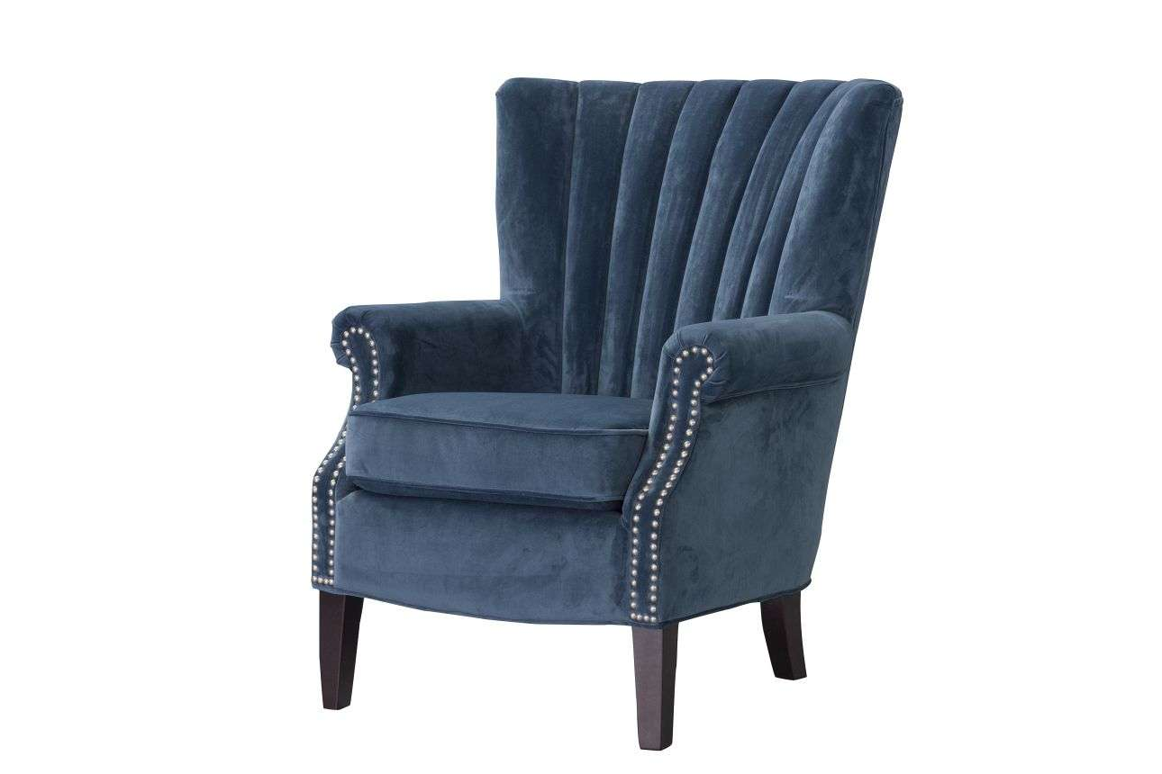 fauteuil Scarlett Velvet Midnight 78x83x101cm