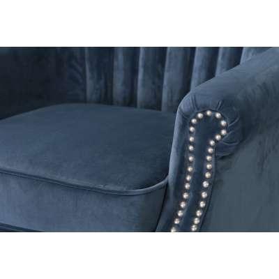 Fauteuil Scarlett Velvet Midnight 78x83x101cm Engelse meubels - Dekoria.nl