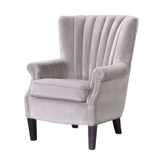 Fotel Scarlett Velvet Light Grey 78x83x101cm