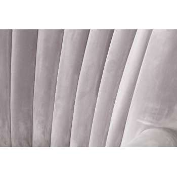 Fauteuil Scarlett Velvet Light Grey 78x83x101cm