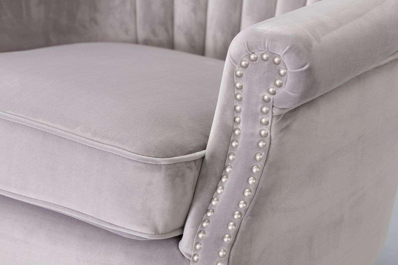 Fotel Scarlett Velvet Light Grey 78x83x101cm