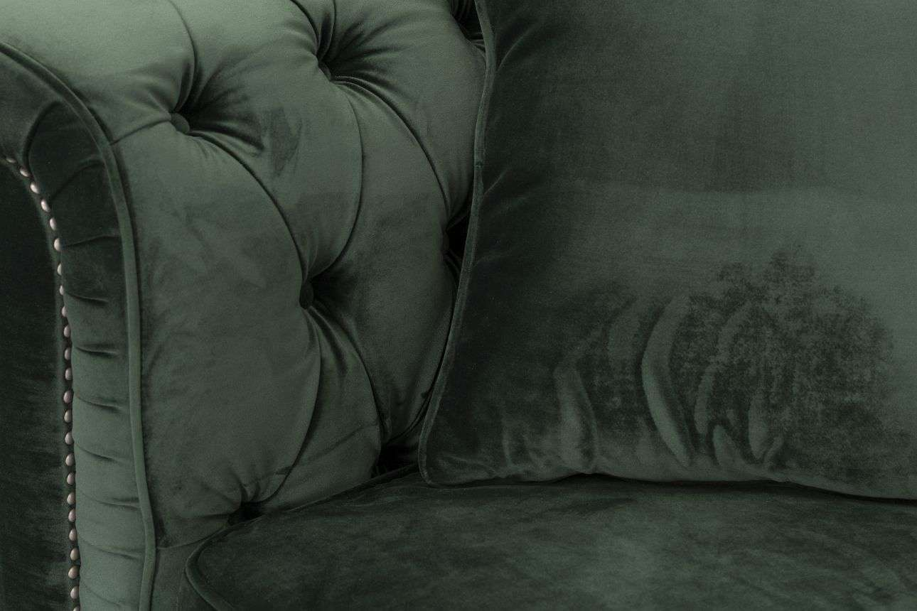 Sofa Chesterfield Classic Velvet Deep Forest 3-os.