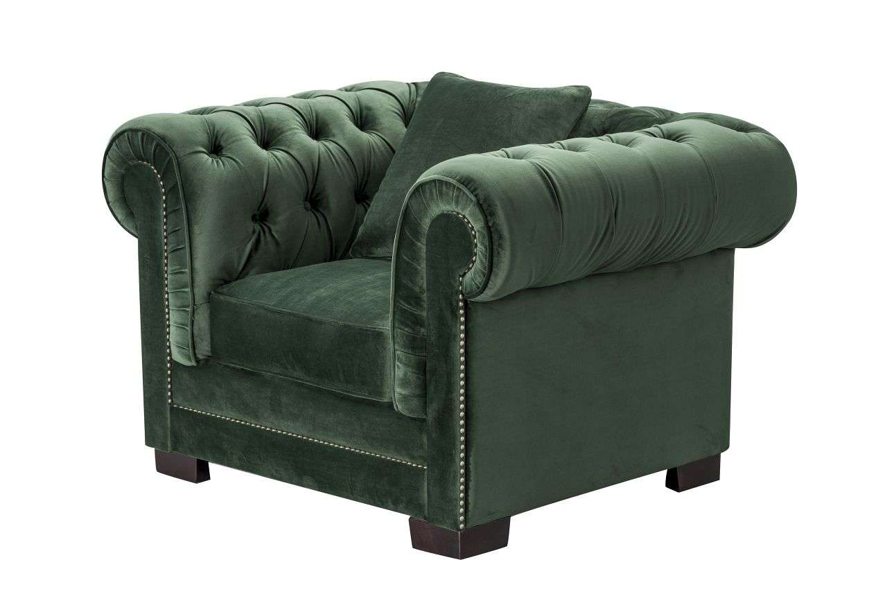 Fauteuil Chesterfield Classic Velvet Deep Forest
