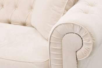 Sofa Chesterfield Classic Velvet Cream 3os.