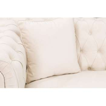 Sofa Chesterfield Classic Velvet Cream 3os.  218x96x78cm