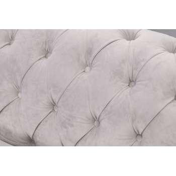 Sofa Chesterfield Classic Velvet Light Grey 3-os.