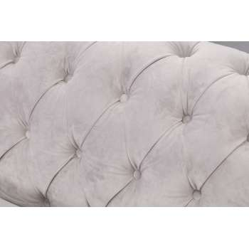Sofa Chesterfield Classic Velvet Light Grey 3os.