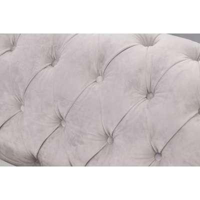 Sofa Chesterfield Classic Velvet Light Grey 3-Sitzer Englische Möbel - Dekoria.de