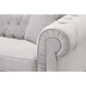 Sofa Chesterfield Classic Velvet Light Grey 3os.  218x96x78cm