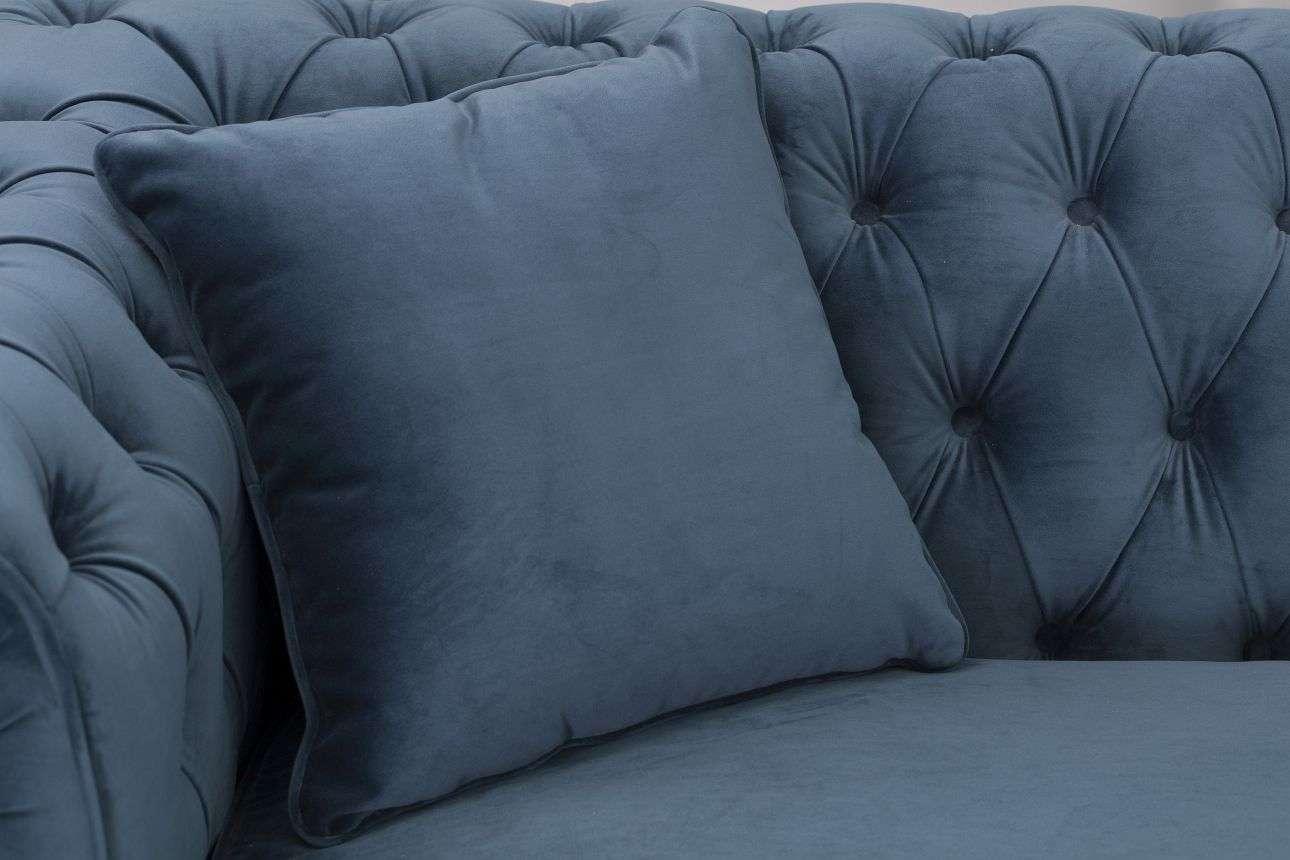 Sofa Chesterfield Classic Velvet Midnight 3os.  218x96x78cm