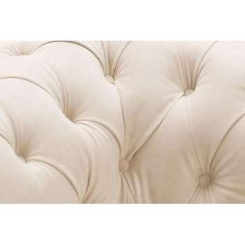 Fotel Chesterfield Classic Velvet Cream 118x96x77cm 118x96x77cm