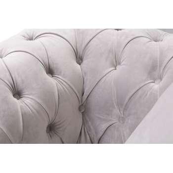Fotel Chesterfield Classic Velvet Light Grey 118x96x77cm 118x96x77cm