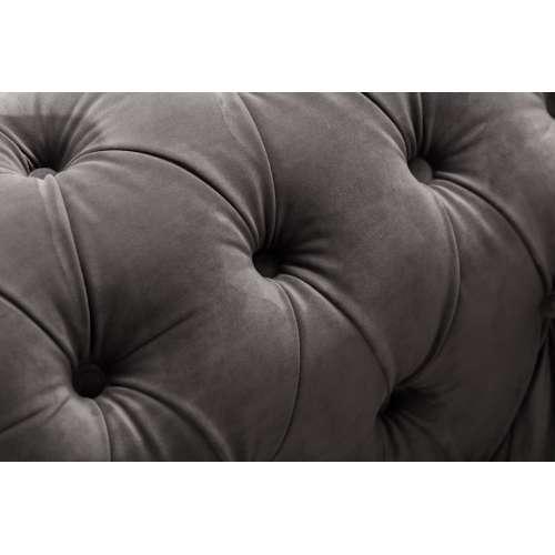 Sessel Chesterfield Classic Velvet Dark Grey