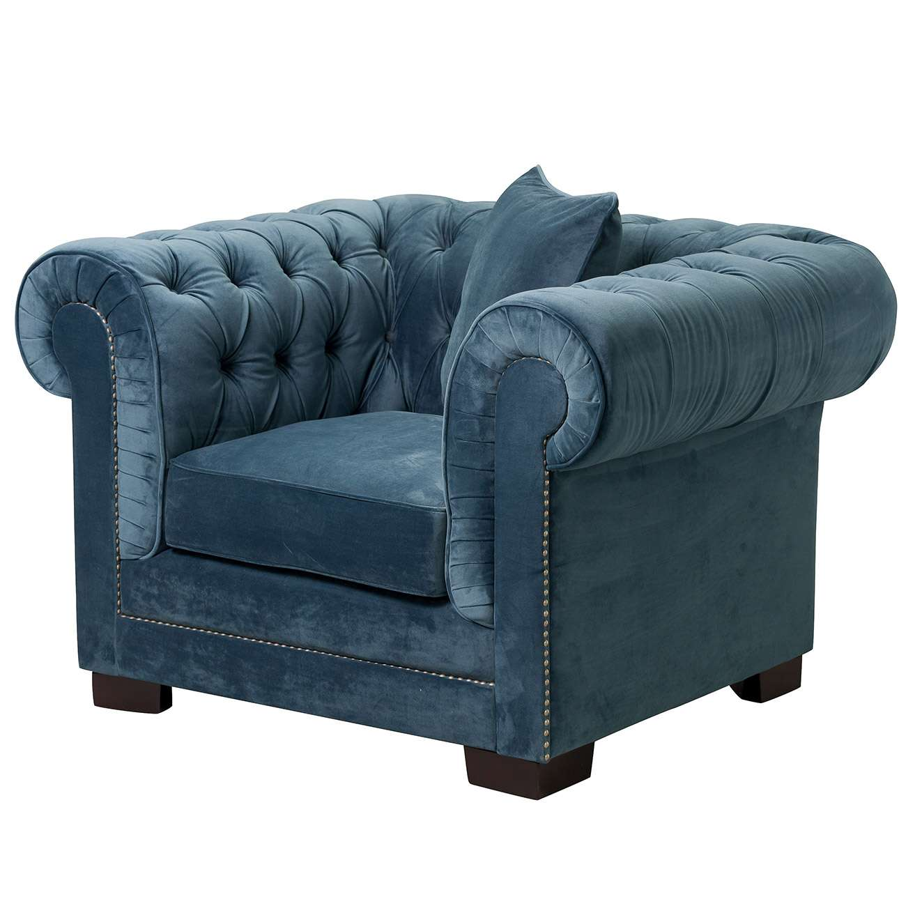 Fauteuil Chesterfield Classic Velvet Midnight