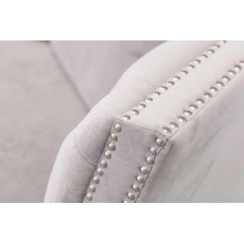 Sofa Chesterfield Modern Velvet Light Grey 3-Sitzer