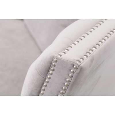 Sofa Chesterfield Modern Velvet Light Grey 3-os. Meble - Dekoria.pl