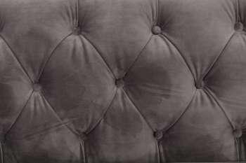 Sofa Chesterfield Modern Velvet Dark Grey 3os.