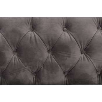 Sofa Chesterfield Modern Velvet Dark Grey 3os.