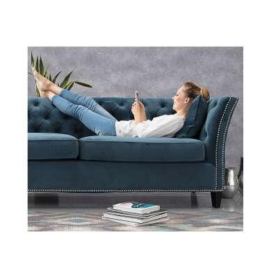 Sofa Chesterfield Modern Velvet Midnight 3-Sitzer