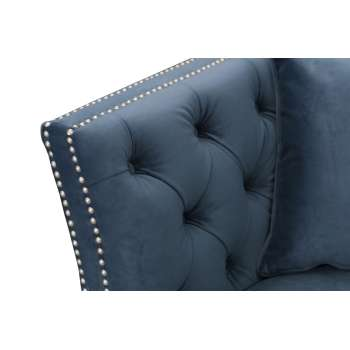 Sofa Chesterfield Modern Velvet Midnight 3os. 225x87x82cm