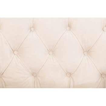 Sofa Chesterfield Modern Velvet Cream 2os. 172x87x82cm