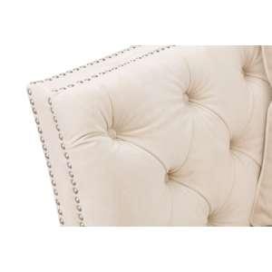Sofa Chesterfield Modern Velvet Cream 2os. 172x87x82cm