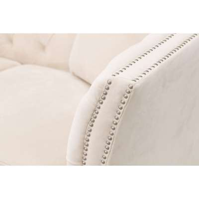 Sofa Chesterfield Modern Velvet Cream 2-Sitzer