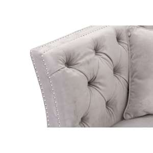 Sofa Chesterfield Modern Velvet Light Grey 2os. 172x87x82cm
