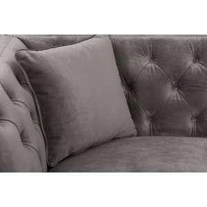 Sofa Chesterfield Modern Velvet Dark Grey 2os. 172x87x82cm