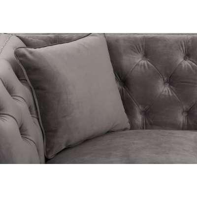 Sofa Chesterfield Modern Velvet Dark Grey 2-os.