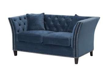 Sofa Chesterfield Modern Velvet Midnight 2os.