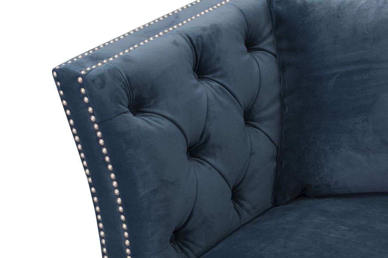 Sofa Chesterfield Modern Velvet Midnight 2os. 172x87x82cm