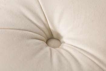 Sofa Chesterfield Glamour Velvet Cream 3os.