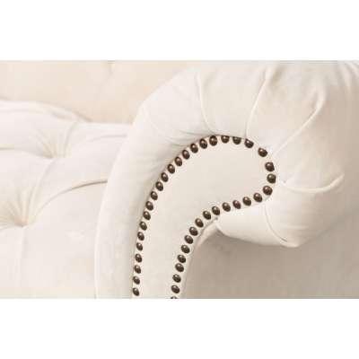 Sofa Chesterfield Glamour Velvet Cream 3-os.