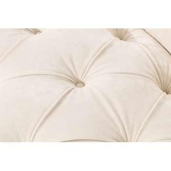 Sofa Chesterfield Glamour Velvet Cream 3-Sitzer