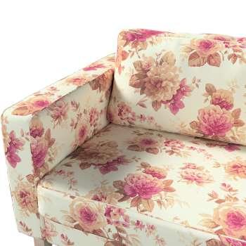 Pokrowiec na sofę Karlstad 3-osobową nierozkładaną, krótki w kolekcji Mirella, tkanina: 141-06
