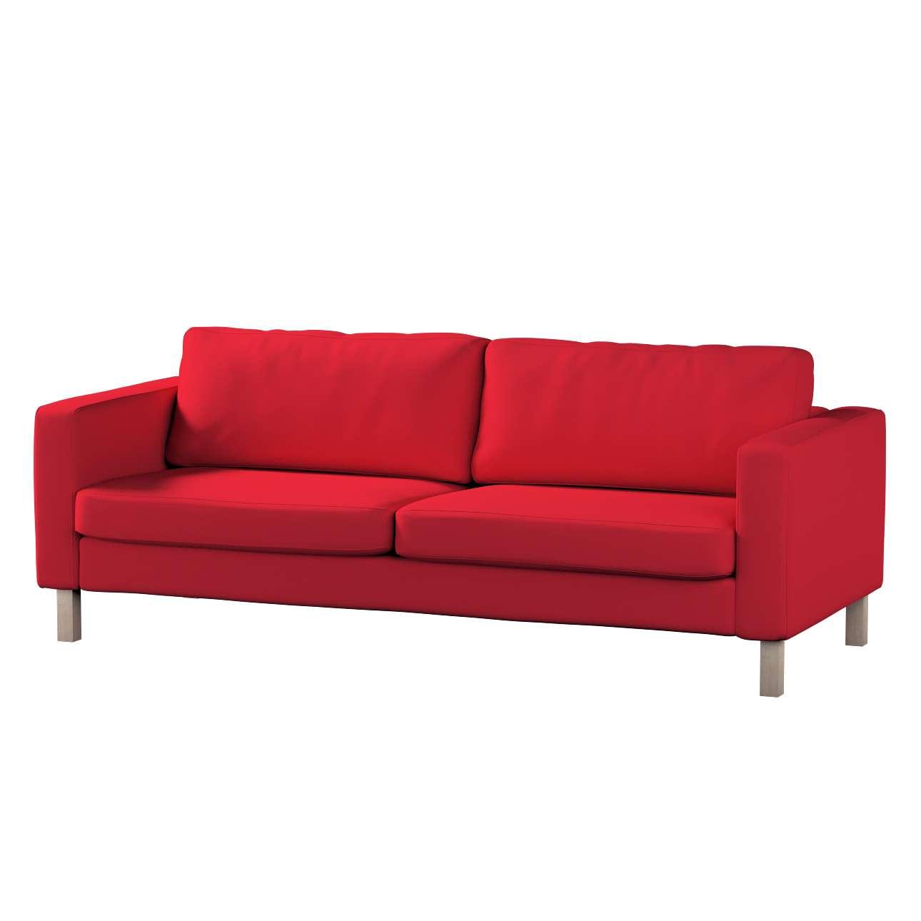 Pokrowiec na sofę Karlstad 3-osobową nierozkładaną, krótki Sofa Karlstad 3-osobowa w kolekcji Cotton Panama, tkanina: 702-04