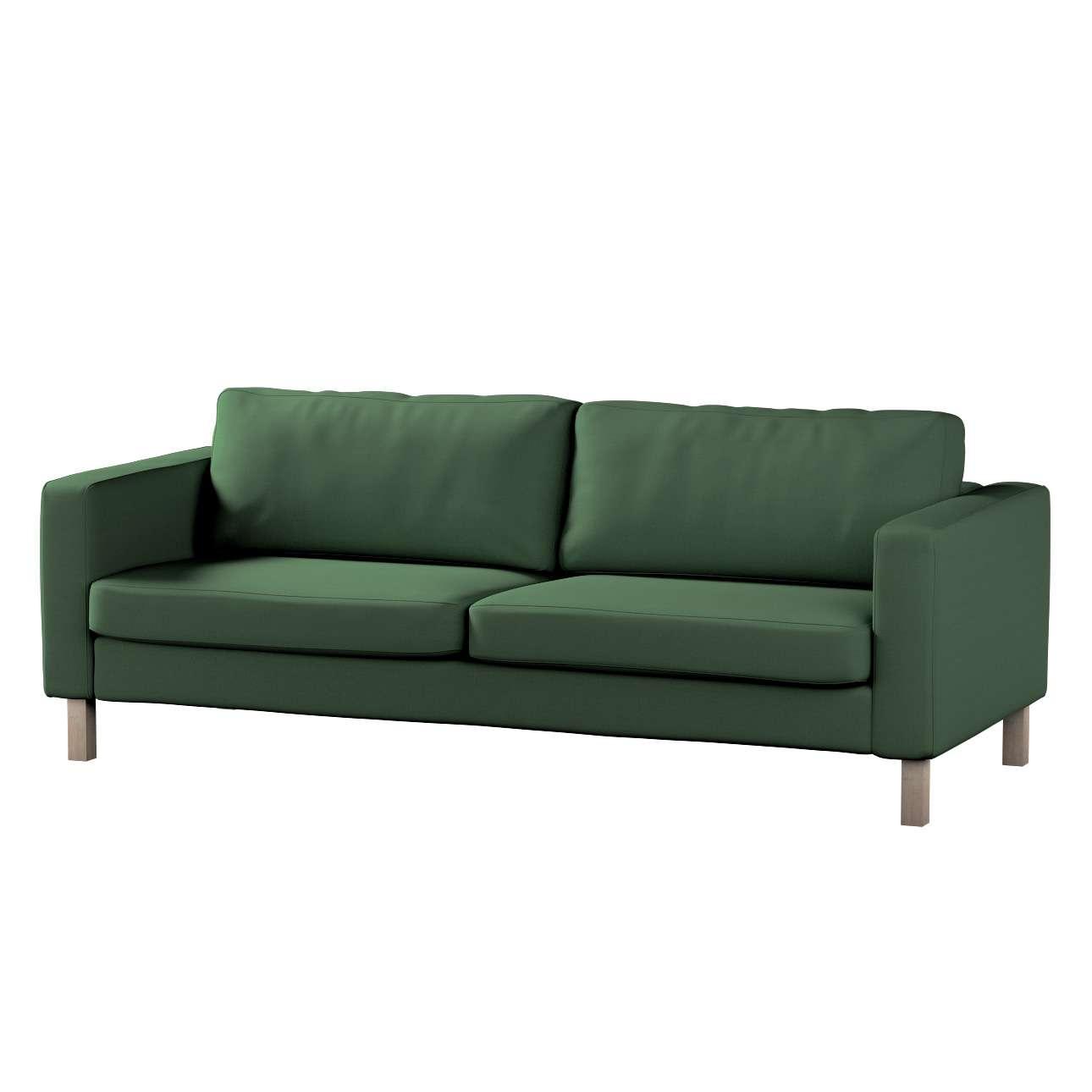 Pokrowiec na sofę Karlstad 3-osobową nierozkładaną, krótki Sofa Karlstad 3-osobowa w kolekcji Cotton Panama, tkanina: 702-06