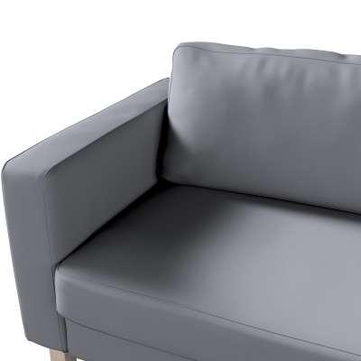 Pokrowiec na sofę Karlstad 3-osobową nierozkładaną, krótki w kolekcji Cotton Panama, tkanina: 702-07