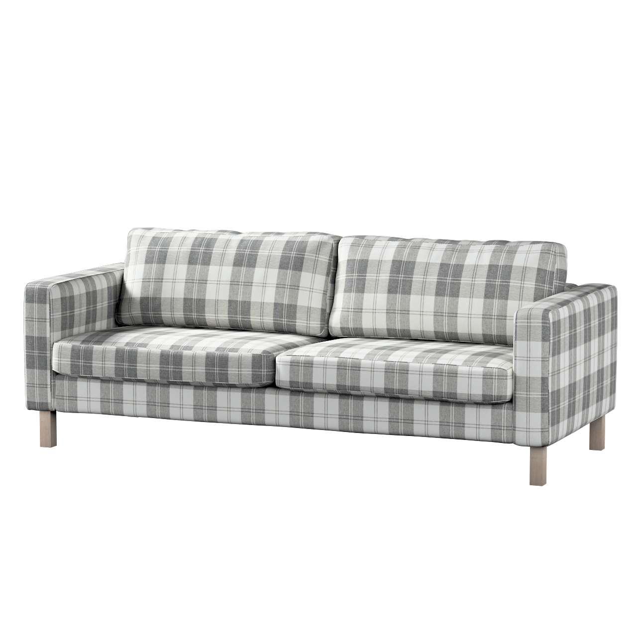 Pokrowiec na sofę Karlstad 3-osobową nierozkładaną, krótki Sofa Karlstad 3-osobowa w kolekcji Edinburgh, tkanina: 115-79